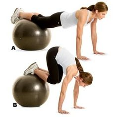 Ab exercise workout workout... I love this workout! To make it harder, straighten out your feet so that you are an inverted V.
