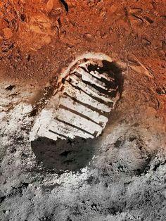 La prinera huella del hombre en la luna. Ya hace 45 años ...
