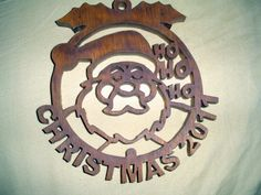 This was my very first Christmas ornament made on my scroll saw from a pattern I found on the internet.