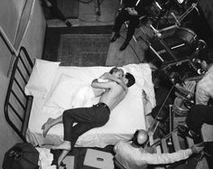 Janet Leigh and John Gavin filming the first scene of  Psycho  (Alfred Hitchcock, 1960)  via ruihenriquesesteves