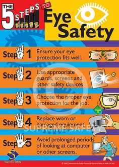 September is HOME and SPORTS EYE safety month...Rule #1: Wear appropriate safety eyewear at all times!