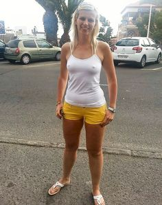see swimsuit Woman through