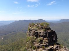 One of the three sisters in Australia's Blue Mountains