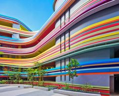 This crazy Singapore school looks like it's made from rainbow lollipops