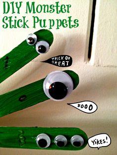monsters 768x1024 Halloween Craft: Monster Stick Puppets