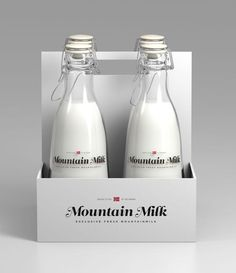 Mountain Milk - A student work package design concept l Designer: Anders Drage - http://www.andersdrage.com