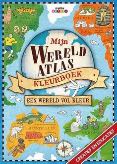 Mijn wereld atlas kleurboek