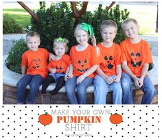Make your own Pumpkin shirt with kiki and company. #halloween #pumpkin #free #printable