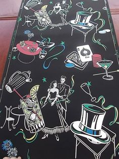 Vintage Wallpaper Roll Fabulous Vices Smoking, Drinking, Gambling Unique #UnitedWallpaper