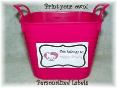 Personalized Hello Kitty Printable by YadkinValleyCookies on Etsy, $5.00