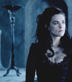 Morgana. I love her necklace. She's always adding feminine touches to her outfits. :3
