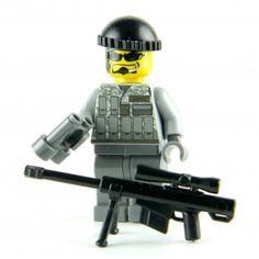 Special Forces Jungle Sniper Minifigure Army Special Forces - Sniper Made With Real LEGO(R) Mini-Figure Parts Lego Army, Lego Military, Military Figures, Lego Soldiers, Lego Figures, Lego Worlds, Cool Lego, Lego Building, Modern Warfare