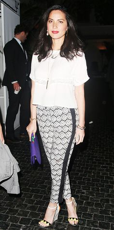 Look of the Day - April 10, 2014 - Olivia Munn in Heartloom from #InStyle