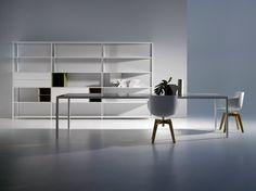 MDF Italia – Minima by Bruno Fattorini & Partners Minimalist Design, Modern Design, Italia Design, Online Furniture, Furniture Websites, A Table, Furniture Design, Shelves, House Design
