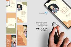 Podcast ig stories & posts keynote by rivatxfz Instagram Design, Instagram Story, Instagram Posts, Company Presentation, Editing Pictures, Keynote Template, Design Bundles, Social Media, Creative