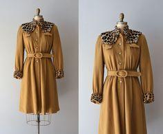 vintage 1930s coat / wool 30s coat / fur collar / by DearGolden, $545.00