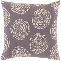Sylloda Gray and Neutral 20-Inch Pillow Cover