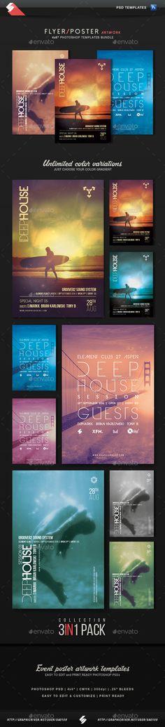 Deep House Collection 2 - Party Flyer Templates Bundle