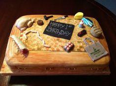 butchers birthday cake - Szukaj w Google Amazing Cakes, Birthday Cake, Google, Birthday Cakes, Cake Birthday, Yummy Cakes
