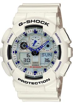 de5773b8a17 Casio Men s G-Shock Ana-Digi White Resin Alarm Dive Watch This attractive Casio  G-Shock Men s watch features high quality white resin band