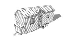 The Turtle Tiny House Plans from Humble Homes Shed Design, Tiny House Design, Home Design Plans, Plan Design, Tiny House Bedroom, Tiny House Living, Tiny House Plans, Tiny House On Wheels, Terra E Tuma