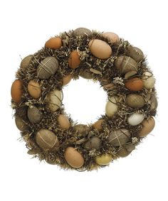 Look what I found on #zulily! Large Egg Wreath #zulilyfinds  Buy up some on sale eggs after Easter this year for something like this