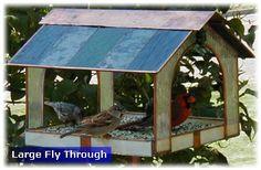 Stained glass bird feeder