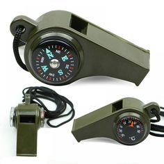 2 in1  Black Mini Survival Whistle Compass NEW FREE SHIPPING FROM USA D2