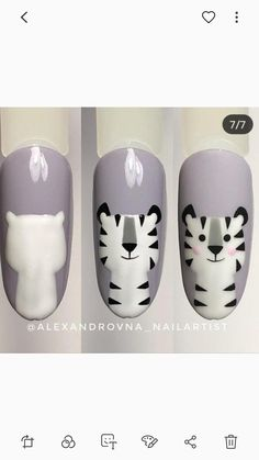 Các con vật Tiere The post Tiere & Nails appeared first on Nails . Nail Art Hacks, Nail Art Diy, Diy Nails, Manicure, Simple Toe Nails, Cute Toe Nails, Toe Nail Color, Nail Colors, Animal Nail Art