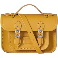 The Mini Satchel in Leather | The Cambridge Satchel Company (4 440 UAH) ❤ liked on Polyvore featuring bags, handbags, yellow purse, leather satchel handbags, leather handbags, genuine leather purse and mini satchel handbags