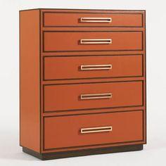 Aquarius Aria 5 Drawer Chest Color: Tangerine