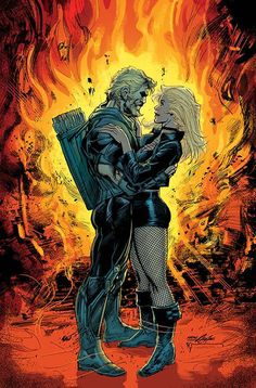 Green Arrow & Black Canary in Green Arrow Vol 6 # 5 - Variant Cover by Neal Adams, Bill Sienkiewicz & Jeromy Cox