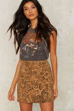 Nasty Gal In the Jungle Suede Skirt