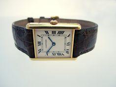Cartier Tank Louis Cartier Vintage Gold Watch by HudsonEstate, $3800.00