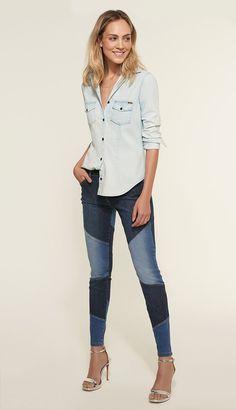 Como usar camisa jeans. Foto: Dafiti.