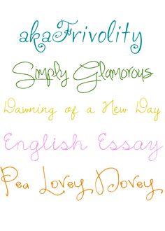homemade ginger: Favorite Free Handwriting Fonts