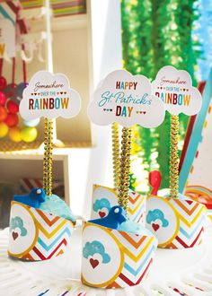 Adorable St. Patricks Day Rainbow Party styled
