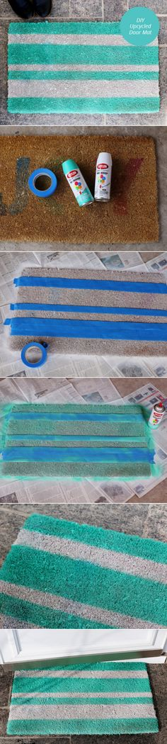 DIY Upcycled Door Mat | From Momtastic | Diy Crafts