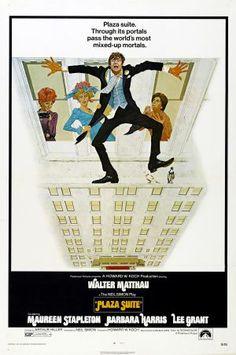 Plaza Suite one sheet movie poster. Art by Robert McGinnis. Walter Matthau