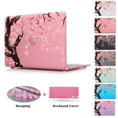 MacBook Cover Ripe Pink Grape Grapefruit Plastic Hard Shell Compatible Mac 13inch MacBook Air Case Protection Accessories for MacBook with Mouse Pad