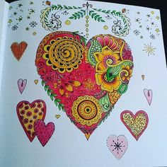 repost @miss_lemon_colouring This heart is my contribution to @booktalk27 valentines coloralong for February. It's from Mein Winterspaziergang by Rita Berman. Coloured with Faber Castell Polychromos. #valentinescoloralong #coloralong #ritaberman #meinwinterspaziergang #adultcolouringbook  #coloring_repost
