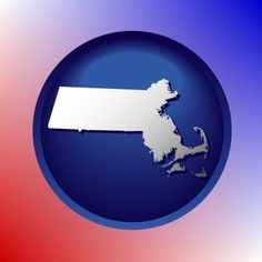 Awesome Massachusetts map icon.