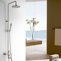 Relia Brushed Nickel Exposed Mixer Shower Set - Shower Sets - Showers - Taps