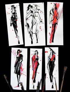 Frühling 2017 - New York / Mailand / Paris auf Behance - # Fashion Illustration Tutorial, Fashion Illustration Sketches, Fashion Sketches, Illustration Art, Fashion Design Sketchbook, Fashion Design Drawings, Fashion Books, Fashion Art, Fashion Figure Drawing