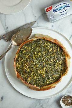 Spinach Potato Torta // Joy of Kosher