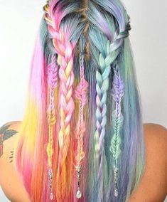 "Braids  4,358 Likes, 66 Comments - BlackMilk Clothing (@blackmilkclothing) on Instagram: ""Dreamcatcher hair goals!  @caitlinfordhair created our pastel dreamz  know someone who'd rock…"""