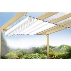 Floracord Seilspanntechnik Bausatz inkl. Sonnensegel Weiß 330 x 140 cm