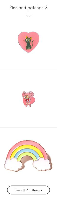 """Pins and patches 2"" by k-ura ❤ liked on Polyvore featuring home, home decor, fillers, accessories, fillers - pink, jewelry, misc, pink home decor, pink home accessories and white home accessories"