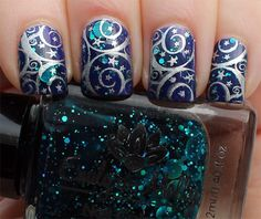 Emily de Molly Oceanic Forces over China Glaze Are You Jelly? with Born Pretty Store stamping!