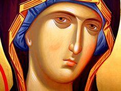 Пресвятая Богородица с Младенцем. Иконописец Александр Рудой.